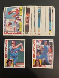 1984 Topps Nestle 792 Philadelphia Phillies Team Set 32 Cards