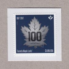 ma. TORONTO MAPLE LEAFS HOCKEY TEAM 100th Ann. Booklet stamp cut MNH Canada 2017