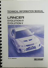 MITSUBISHI LANCER EVO IV / V TECHNICAL INFORMATION MANUAL REPRINTED