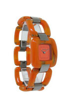 Nixon A248 877 The SiSi Women's Mottled Marmalade Plastic Open Link Analog Watch