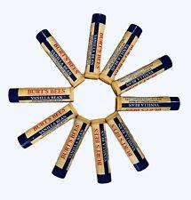 Burt's Bees Vanilla Bean Lip Balm, 10 Pack, New