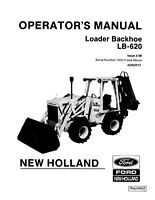 NEW HOLLAND LB620 SKID STEER LOADER OPERATORS OPERATION MAINTENANCE MANUAL