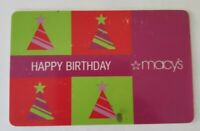 Used MACYs gift card -  Happy Birthday MACY's GIFT  Early 2000s Collectible