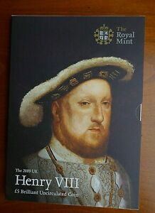 2009 HENRY VIII £5 FIVE POUNDS BU COIN IN CLEAN ROYAL MINT PACK