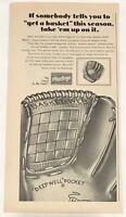 "Vintage 1966 Rawlings Deep Well Pocket Baseball Mit 5.5 X 11"" Magazine Print Ad"
