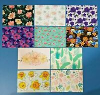 Set of 10 NEW Floral Pattern Postcards for Postcrossing & Postcardsofkindness
