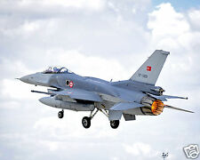 F 16 Fighter Aircraft Falcon Turkish Air Force Reprint Photo 10x8 Inch