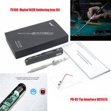 TS100 Mini Portable Digital OLED Soldering Iron Kit PR-B2 Tip Interface DC5525