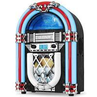 Victrola Retro Desktop Jukebox with CD Player, FM Radio, Bluetooth, and Color