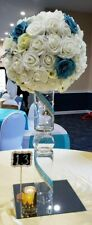 10 Centerpieces Wedding Table Decoration Silk And Foam Roses and Hydrangeas