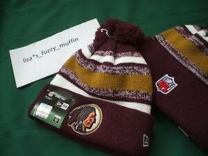 Washington Redskins New Era knit pom hat beanie w/tags! RARE 2014-15 throwback