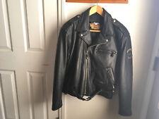 Vintage Genuine Leather Harley Davidson Jacket - men's large