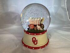 Ou Oklahoma University Sooners Snow Globe / Music Box