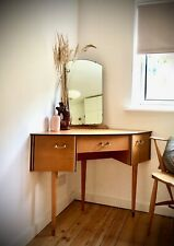 Vintage Retro Mid Century Corner Dressing Table Desk UK Del