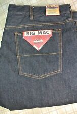 NWT $60 Men's Big Mac Work Pant Relaxed Fit Blue Denim Jeans  Size 36 X 34
