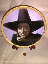 Wizard of Oz Wicked Witch Margaret Hamilton Collector Plate Loew's Mgm Turner 89