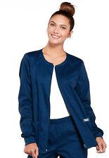 Cherokee Workwear Core Women's 4315 Zip Front Scrub Jacket -New-Free Ship