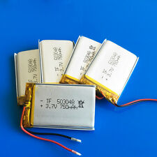 5pcs 3.7v 750mAh 503048 Lipo Battery for MP3 DVD GPS Camera Recorder Speaker PSP