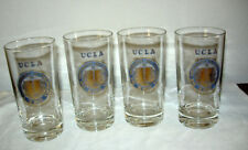 SET OF FOUR (4) Early 1960's UCLA BLUE AND GOLD GLASSES UNIVERSITY OF CALIFORNIA