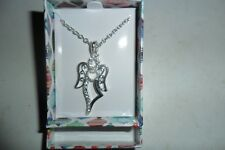 AVON HOLIDAY CHEER NECKLACE - ANGEL - SILVER PLATED - BRAND NEW BOXED