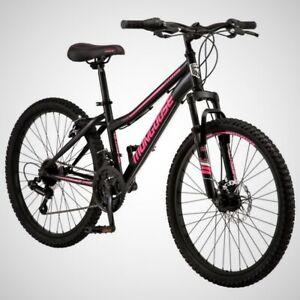 Mongoose Excursion Mountain Bike, 24-inch wheel, 21 speeds, black FREESHIP