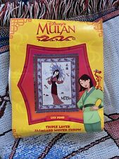 Disney Mulan Tapestry Jacquard Woven Throw Multicolor
