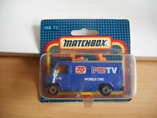 Matchbox Mercedes TV News Truck in Blue on Blister