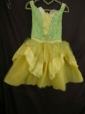 Halloween Disney Princess Tinkerbell Child Dress Sz S 4-6X (H2-14)