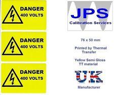 Electrical Labels - 50 Danger 400V  76 x 50mm JPSLABEL11