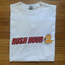 Vintage 2001 Rush Hour 2 Promo Movie Tee Shirt Size Large Jackie Chan Tucker