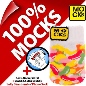 Mocks Jelly Bean Mobile Phone MP3 Sock Case Cover Pouch for iPhone 4S 5 5S 5C SE