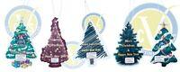 20 x Christmas Themed Hanging Car Air Fresheners Bulk Wholesale
