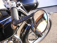VINTAGE Moto Bar End Specchio Tuta BSA/VELOCETTE/TRIUMPH/RUDGE