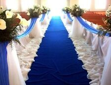Royal Blue Valance Swag For All Parties Decor Voile Fabric Size 1 Yard X 6 Yard