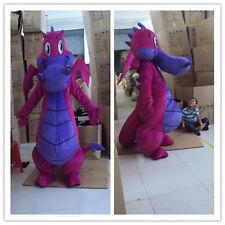 Hot purple Dragon Mascot Costume Fancy Dress Adult Size Free Shipping 168