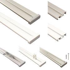 Gardinenschienen, Vorhangschienen, Gardinenleisten 2 läufig aus Aluminium