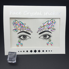 Face Gems Adhesive Glitter Crystal Tattoo Sticker Festival Party Body Eye Makeup
