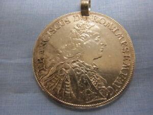 SP1314-Münzanhänger Franciscus D.G Rom 1756 durchmesser 43 cm Gewicht 28,7 Gramm