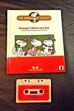 Talking Snoopy Book/Tape Snoopy'S Show And Tell Works 1986 Worlds Of Wonder