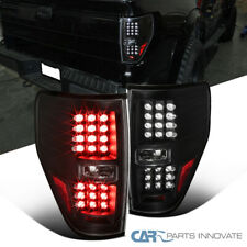 09-14 Ford F150 F-150 Pickup Black LED Tail Lights Rear Brake Lamps Left+Right