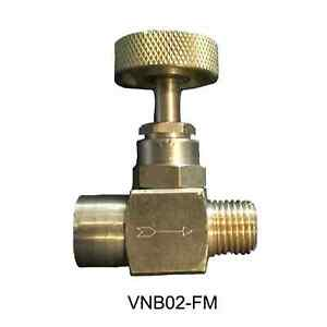 """1/4"""" Brass Needle Valve - Female by Male 600 PSI (WOG)"""