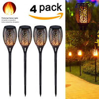 1-4 Pack 51 LED Waterproof Solar Tiki Torch Light Dancing Flickering Flame Lamp
