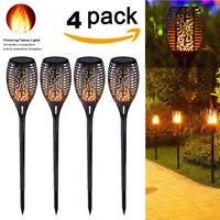 1-4 Pack 51 LED Waterproof Solar Tiki Torch Light Dancing Flickering Flame Lamp