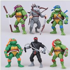 6pcs BIG TMNT Ninja Turtles Action Figure Kid Display Figurines Toy Cake Topper