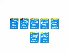 Intel Inside Core i7 Sticker BLUE BLU Haswell 7 PEZZI PC ADESIVI LOGO LABEL