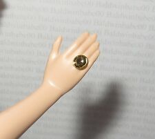 JEWELRY ~BARBIE DOLL JUICY COUTURE PAM FAUX GOLD BLACK MODEL MUSE RING ACCESSORY