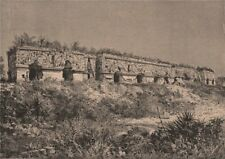 Ruins of Uxmal - The Governor's Palace. Mexico 1885 old antique print picture