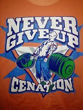 John Cena Never Give Up T-Shirt M Medium Cenation WWE WWF You Can't See Me