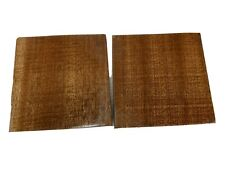 """2 Pieces Lot, AFRICAN Mahogany Turning Wood Bowl Blank Lathe 6"""" x 6"""" x 2"""""""