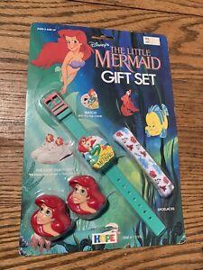 Vintage Hope Disney The Little Mermaid Gift Set Watch/Sneaker Snappers Unopened